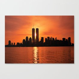 Twin Towers Summer Sky Canvas Print