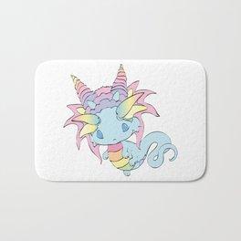 Rainbow Sherbet Baby Dragon Bath Mat