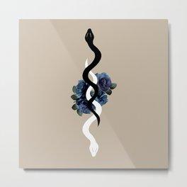 Yin Yang Snake Glam #1 #wall #art #society6 Metal Print