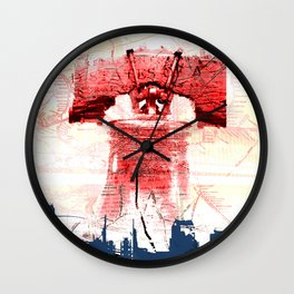 Love in the Bell of Phila Wall Clock
