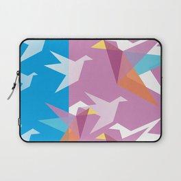 Pastel Paper Cranes Laptop Sleeve