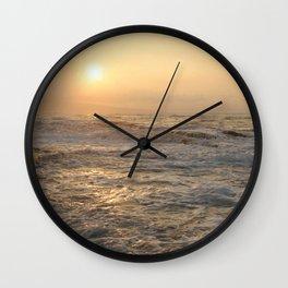 sunset hookipa beach maui hawaii Wall Clock