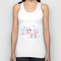 kittens Tank Tops featuring SNOW KITTENS by Vanja Cankovic