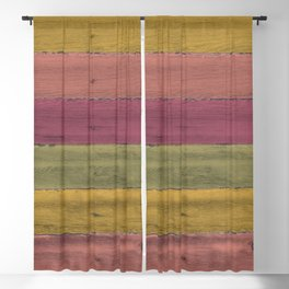 Colorful Wood Grain Blackout Curtain