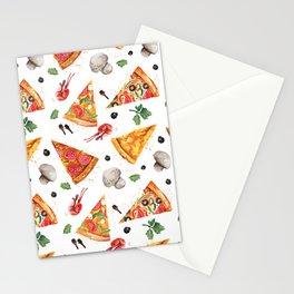 pizza love mushroom Stationery Cards