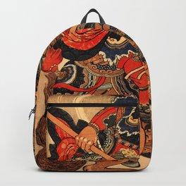 Happinata Koju on a rearing horse Backpack