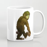 bigfoot Mugs featuring Bigfoot by JoJo Seames