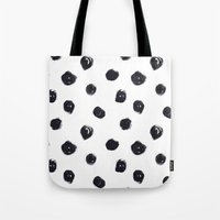 polka dot Tote Bags featuring POLKA DOT by Maria Parsons