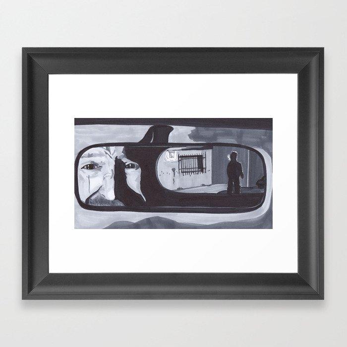 Rearview Mirror Pearl Jam Breaking Bad Framed Art Print By