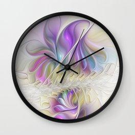 Find You, Luminous Abstract Fractals Art Wall Clock