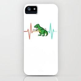 Dinosaur Dino T-Rex Heartbeat ECG iPhone Case