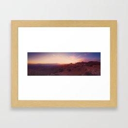 Joshua Tree At Dusk Framed Art Print