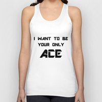 shinee Tank Tops featuring Only Ace Black Ver. by Noctambulous Designs