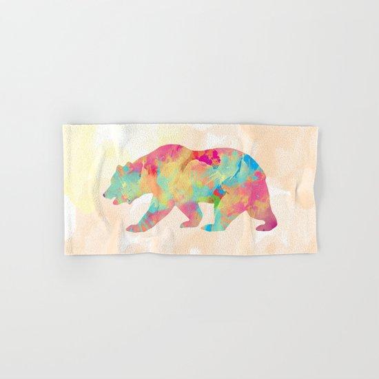 Abstract Bear Hand & Bath Towel