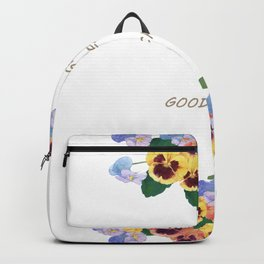 Watercolor painting, pansy flower Backpack