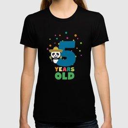 Five Years fifth Birthday Party Panda Dbknv T-shirt