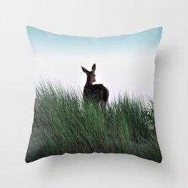 Deer Stop Throw Pillow