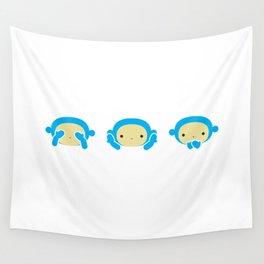 3 Wise Monkeys Wall Tapestry
