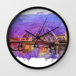 Glasgow Sunset Wall Clock