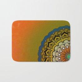 Round Colorful Design Bath Mat