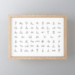 Sex poses Framed Mini Art Print