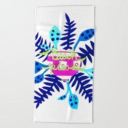 Beach Please-Blue Beach Towel