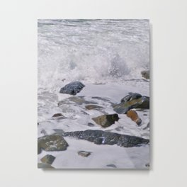 FOAMING WHITE OCEAN SURF Metal Print