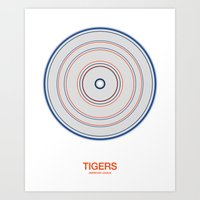 Detroit rings Art Print