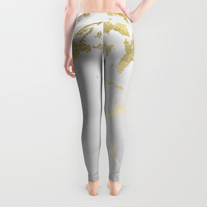 Kintsugi Ceramic Gold on Lunar Gray Leggings