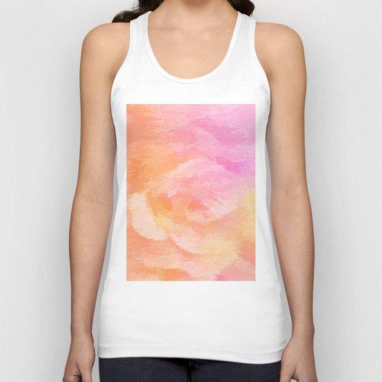Soft Pastel Floral Blend Unisex Tank Top