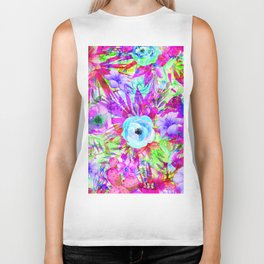 butterflies and hummingbirds,blossom Biker Tank