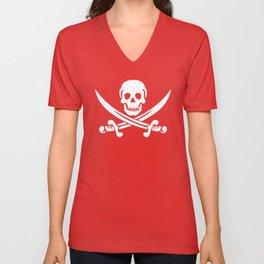 Skull Swords Jolly Roger Unisex V-Neck