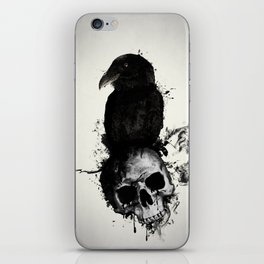 Raven and Skull iPhone Skin