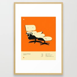 LOUNGE AND OTTOMAN (1956) Framed Art Print