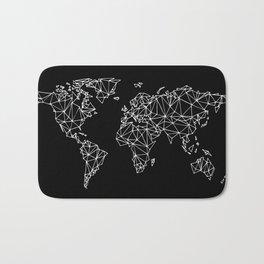 World map black Bath Mat