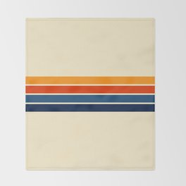 Classic Retro Stripes Throw Blanket
