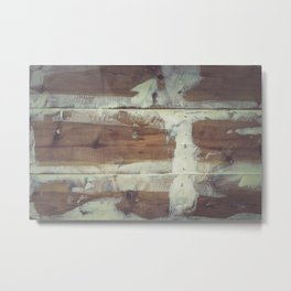 Repaired wooden shipboard Metal Print