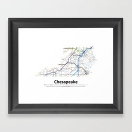 Highways of the USA – Chesapeake Framed Art Print