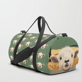 Sweet Lamb in the Barnyard Duffle Bag