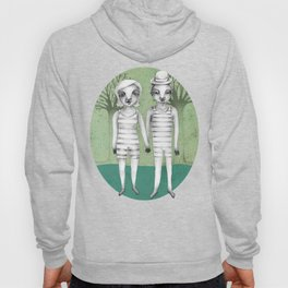 gymnast couple in the forest Hoody