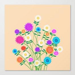 Bright Pretty Flowers Canvas Print
