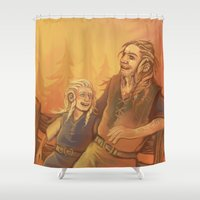 fili Shower Curtains featuring Fili and Frerin by MelColley