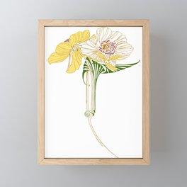 Art Nouveau Poppy Duet by Seasons K Designs Framed Mini Art Print