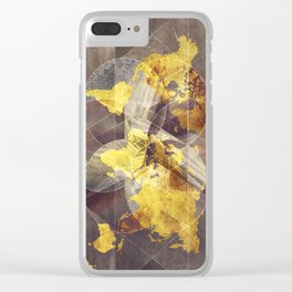 world map 35 sacred Clear iPhone Case