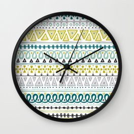 Boho Market Stripe Wall Clock