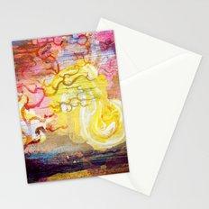 Vegan Eggyolk behind a Tree Stationery Cards