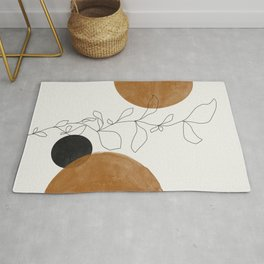 Abstract Plant Rug