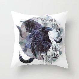 Full Moon Fever Dreams Of Velvet Ravens Throw Pillow