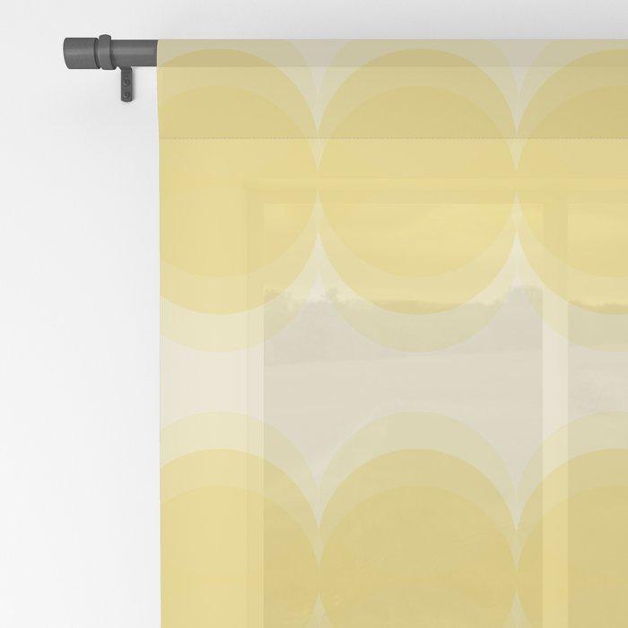 Four Shades of Yellow Circles Sheer Curtain