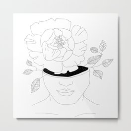 a girl who blooms from within Metal Print